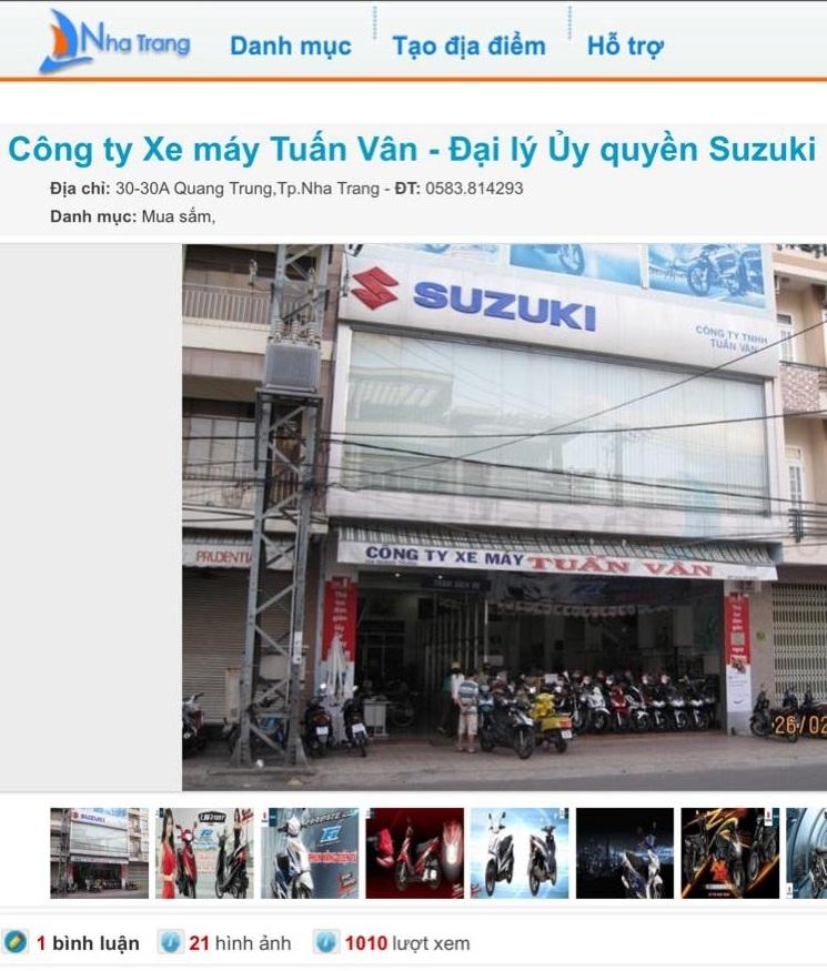 Cửa hàng mua bán xe máy cũ tại Nha Trang -Cửa hàng xe máy Tuấn Vân