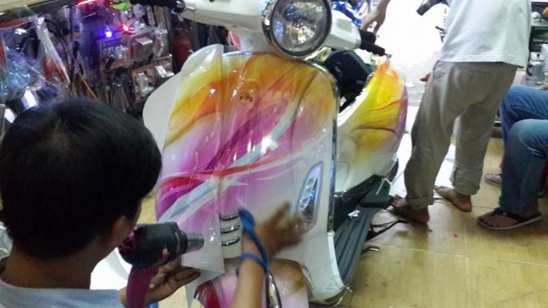 Địa chỉ dán keo xe, decal xe máy Hồ Chí Minh -Cửa hàng dán keo RIDECAL