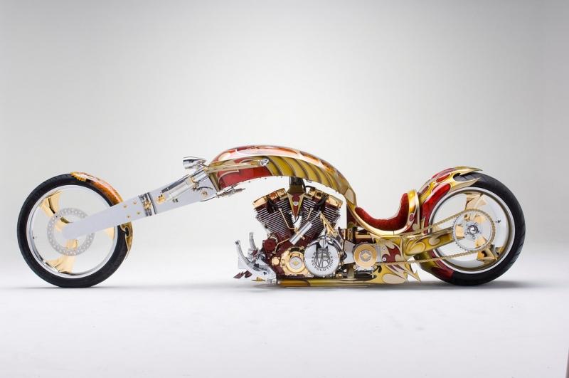 Xe máy đắt nhất thế giới mọi thời đại -Gold Plated Custom Chopper