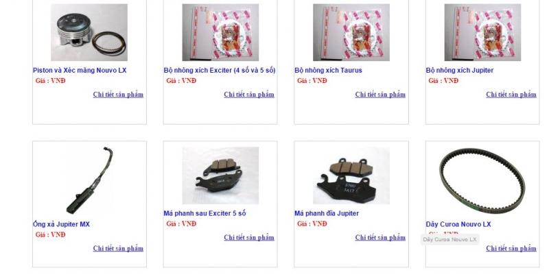 Cửa hàng phụ tùng xe máy Hà Nội -Phụ tùng xe máy Sơn Phượng