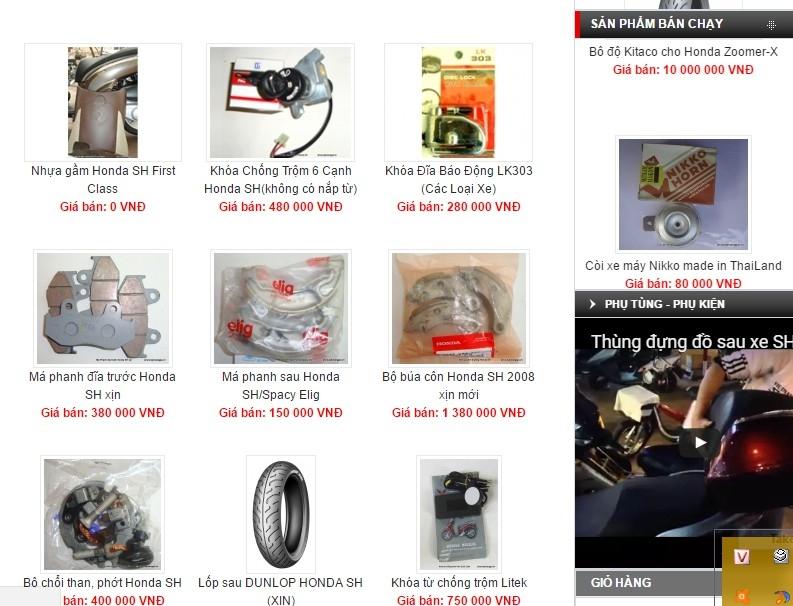 Cửa hàng phụ tùng xe máy Hà Nội -Phụ tùng chính hiệu Thiên Nhẫn