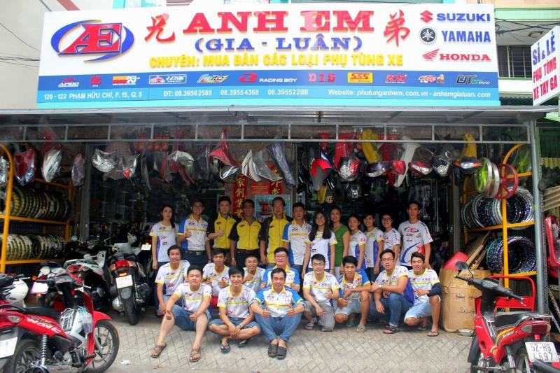 Địa chỉ mua bán phụ tùng xe máy Tp. Hồ Chí Minh -Anh Em Gia Luân