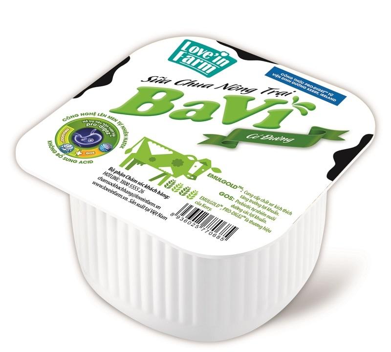 Sữa chua ngon nhất Việt Nam 2018 -Sữa chua có đường nông trại Ba Vì