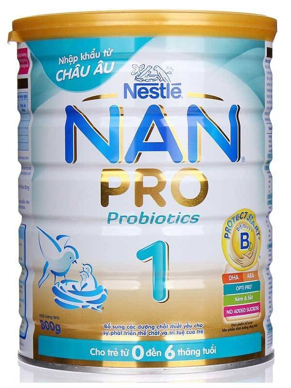 Sữa bột công thức cho trẻ sơ sinh -Thương hiệu sữa Nan